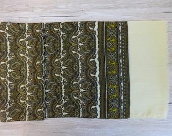 Mens scarf Vintage silk wool Paisley