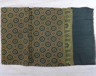 "Vintage Hipster Mens scarf 116cm x 26cm / 45.6"" x 10.2"""
