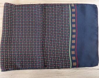"Vintage Hipster Mens silk paisley scarf 138cm x 32cm / 54.5"" x 12.5"""