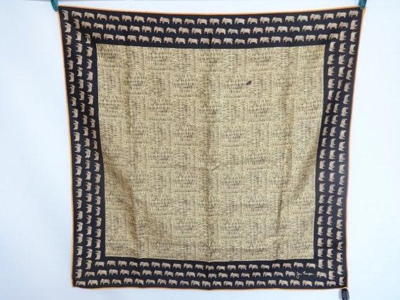Vintage Silk Jim Thompson Elephant scarf 80cm x 83cm     Etsy baf554dd3b