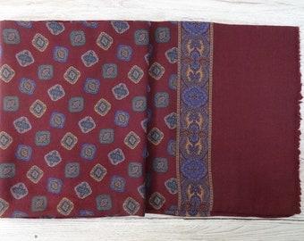 Vintage wool Mens scarf