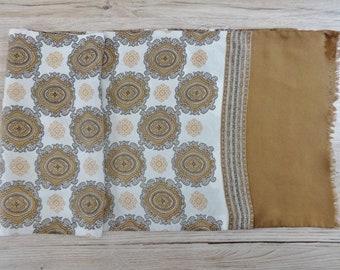 "Vintage Mens silk scarf 117cm x 27cm / 46"" x 10.6"""