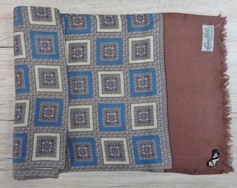 "Vintage Hipster Mens silk scarf 123cm x 28cm / 48.4"" x 11"""
