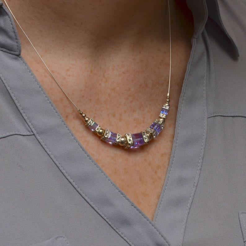 Alexandrite Light Purple Swarovski Crystal Squaredelle image 0