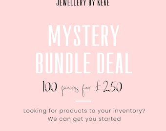 100 pairs of mystery earrings  Wholesale Bunk