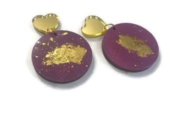 Hearts & Gold Studs