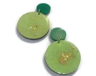 Green & Gold studs