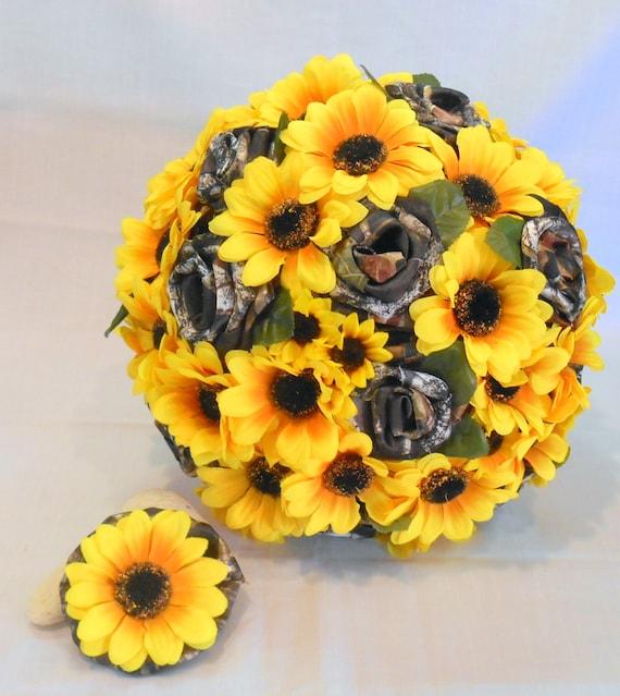 Sunflower Mossy Oak Camo Bouquet   Etsy