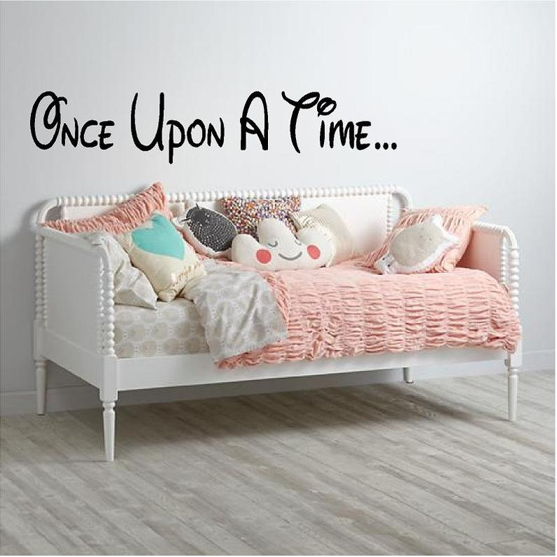 Vinyl Wall Decal-Nursery Wall Decal-Kids Room Decor-Apartment Decor-Childrens Room Decal-Guestroom Decal Once Upon a Time...9 H x 45W