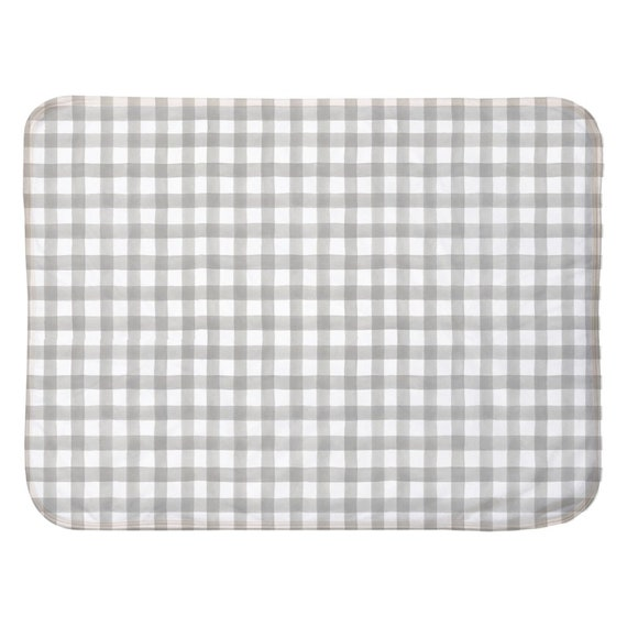 Gender Neutral Checkered Stripe Baby Blanket Gender Neutral Baby Blanket Baby Blanket Blue-Green /& White Baby Blanket |Nursery Decor
