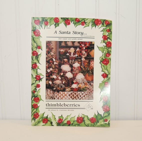 a santa story with christmas whimsies booklet c etsy