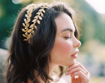 gold wedding crown, gold bridal crown, bridal headpiece, gold crystal wedding headpiece, gold crown, gold tiara, crystal crown - ALEXANDRIA