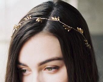 gold hair vine, wedding hair vine, bridal hair vine, gold headpiece, gold headband, gold wedding hair accessories, wedding headpiece REAGAN