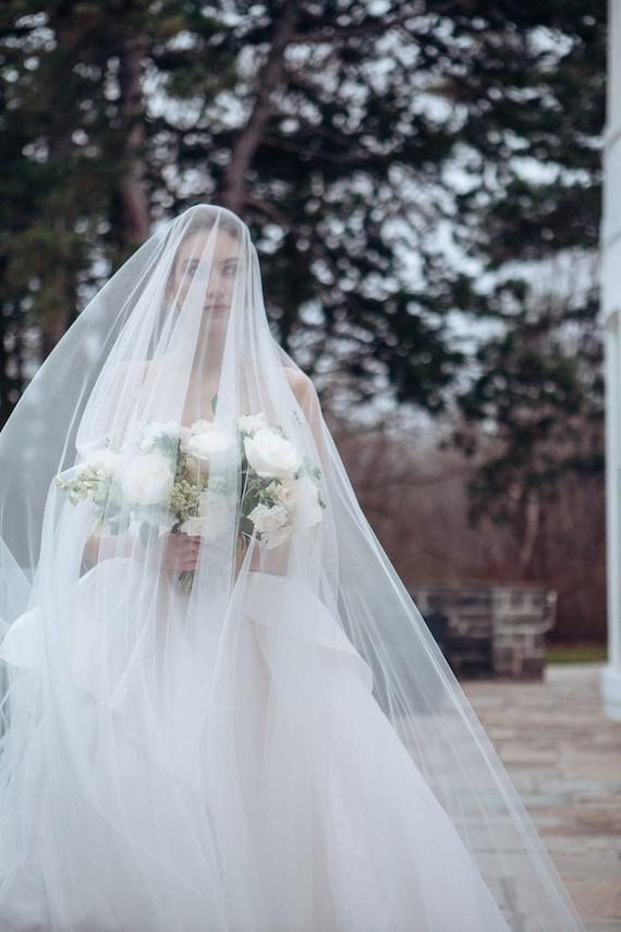 American Foliage Ivory Color New Bridal Veil