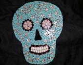 Turquoise Mosaic Sugar Skull