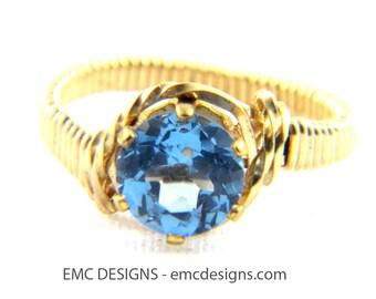 8mm Birthstone Ring in 14 Karat Gold Filled Wire