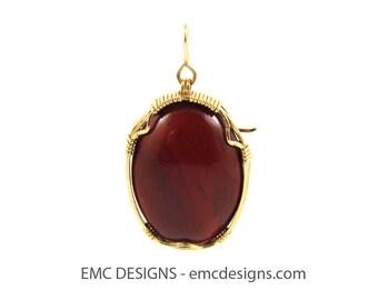 Oval Carnelian Pendant & Brooch