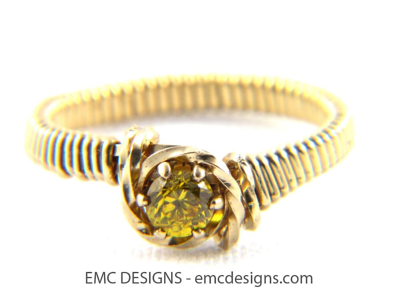4mm Birthstone Ring in 14 Karat Gold Filled Wire image 0