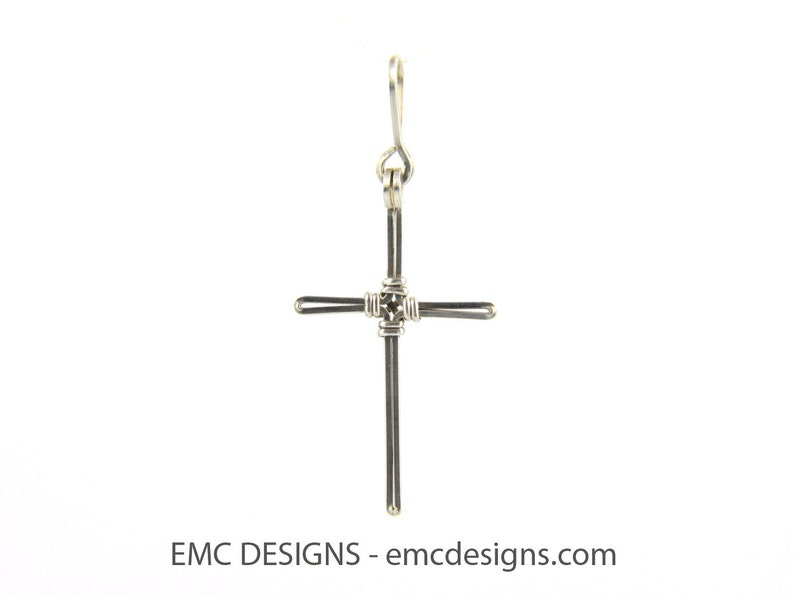 Cross Pendant in Sterling Silver image 0
