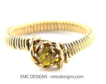 4mm Birthstone Ring in Sterling Silver Wire