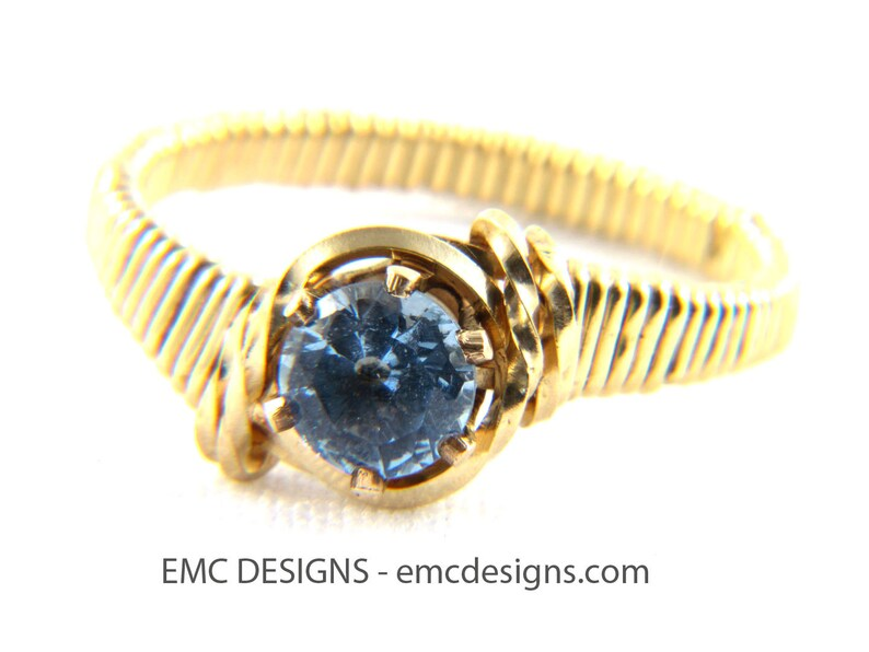 6mm Birthstone Ring in 14 Karat Gold Filled Wire image 0