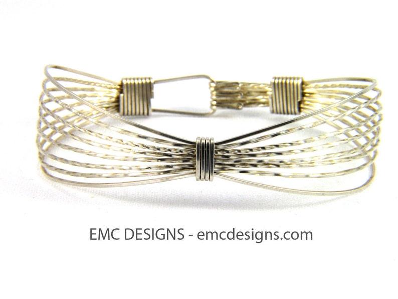 Classic Triple Wide Bracelet in Sterling Silver image 0
