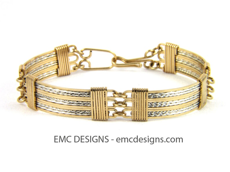12 Plates Bracelet in 14 Karat Gold Filled Wire and Details in image 0