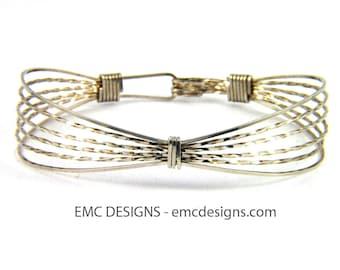 Classic Double Wide Bracelet in Sterling Silver