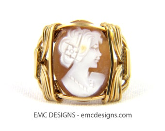 Classic Cameo Ring in 14 Karat Gold Filled Wire