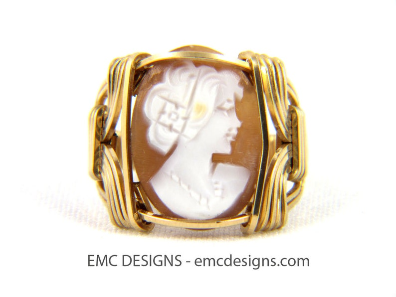 Classic Cameo Ring in 14 Karat Gold Filled Wire image 0
