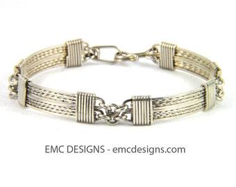 8 Plates Bracelet in Sterling Silver