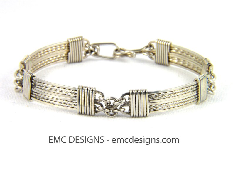 8 Plates Bracelet in Sterling Silver image 0