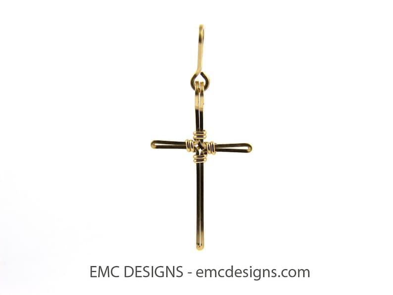 Cross Pendant in 14 Karat Gold Filled Wire image 0