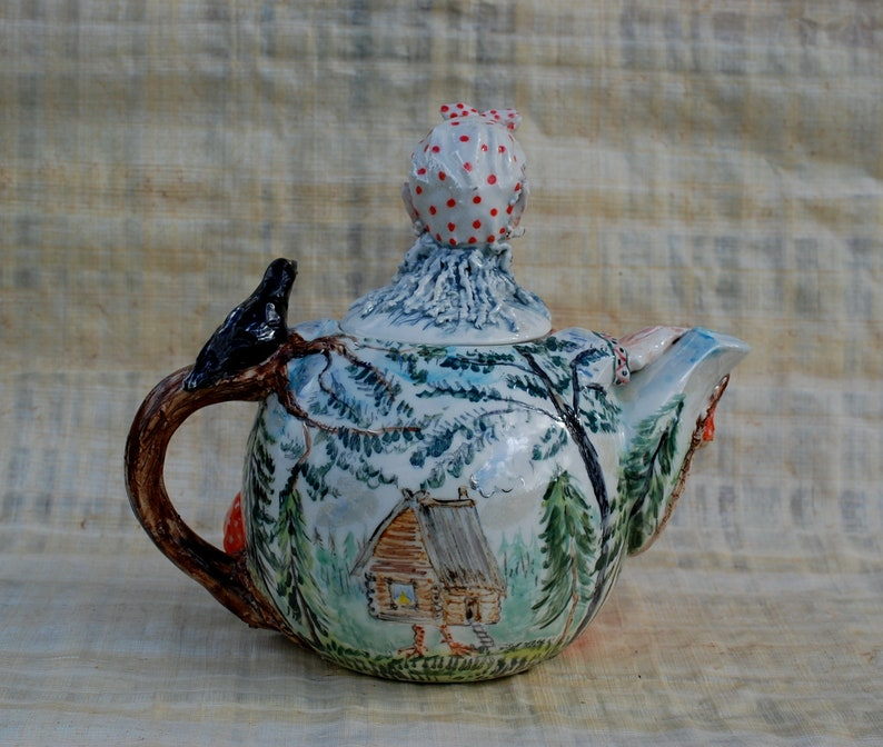 Vintage Pearl China Co Wind-Up Musical Teapot Aladdin Style 1940/'s Light Blue Lusterware Plays Tea For Two