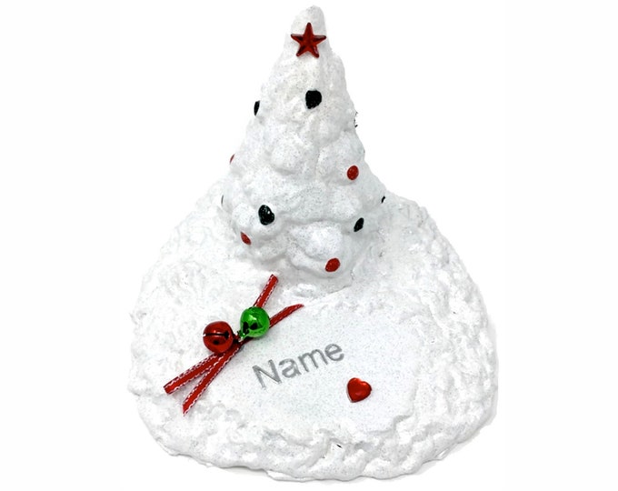 Personalised Traditional Jingle Bells Grave Ornament Memorial Christmas Tree Plaque Graveside Outdoor Garden Cemetery Xmas baby Tribute