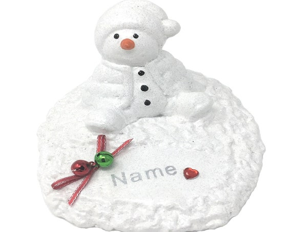 Personalised Christmas Ornament Grave Memorial Baby Snowman Graveside Plaque Outdoor Garden Cemetery Tribute