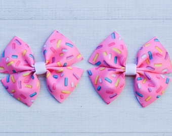 "20 Girl 3.5/"" Birthday Hair Bow Crown Heart Ice Cream Doughnut Lollipop Mermaids"