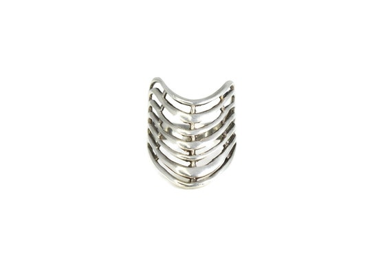 Silver Wave Ring, Silver Cleopatra Ring, Silver Bo