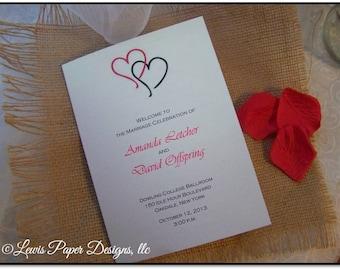 double heart wedding etsy