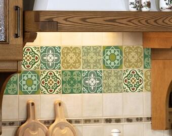 Tegels Groen Keuken : Tegel sticker set van 15 tegel stickers voor keuken tegels etsy