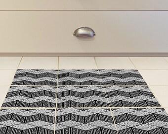 Adesivi per mattonelle pavimento set di con il reticolo etsy
