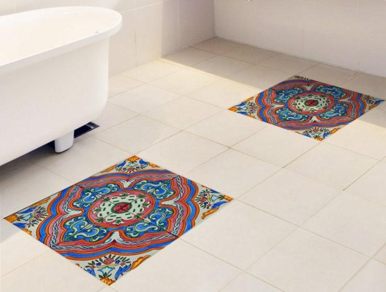 Adesivi per mattonelle pavimento set di 15 con reticolo etsy