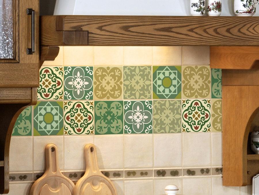 Tile decalcomanie set di adesivi piastrelle per cucina etsy