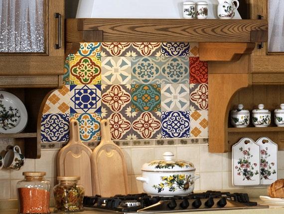 Adesivi per mattonelle set adesivi piastrelle per la cucina etsy