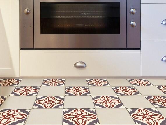 Floor Tile Decals SET Of 15 With Rich Decor Floor Decal