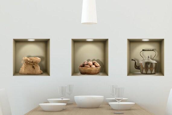 Decalcomanie Da Muro Di Nicchia 3d Paese Cucina Da Salotto Camera Da Letto Ufficio Adesivi 3d 3d Stickers Adesivi Murali Adesivi In Vinile