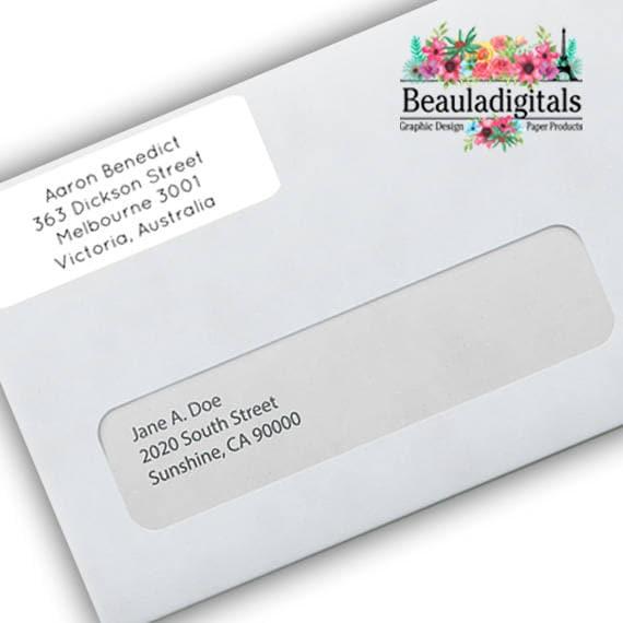 500 Personnalisé adresse or Autocollants Étiquettes