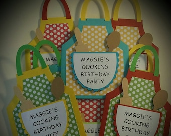 Cooking Party Invitations - Baking  Party Invitations - Birthday Party Invitations Set of 8