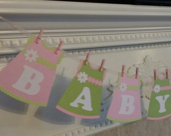 BABY GIRL BANNER - Baby Banner - Baby Shower Banner - It's a Girl Banner - Baby Shower Decoration