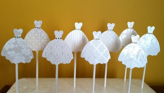 Wedding Dress Cupcake Decorations